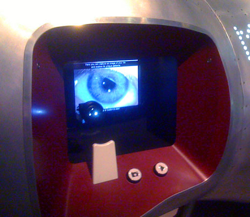 Who Am I? iris scanner