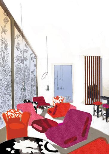 anakana interior concept sketch