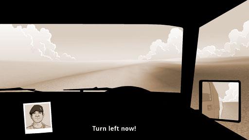 Desert Rescue windscreen view