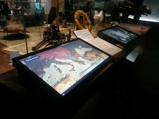 World War touchscreen interactives